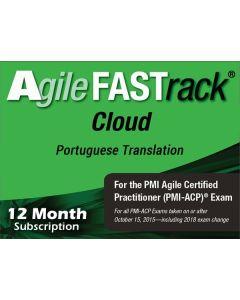 Agile FASTrack® Cloud - PMI-ACP® Exam Simulator - Version 2 - Portuguese Translation - 12 Month