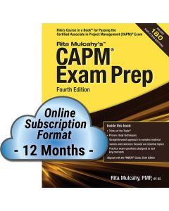 CAPM® Exam Prep, Fourth Edition - Cloud Subscription - 12 Month