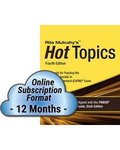 Hot Topics CAPM® Exam Flashcards - 4th Edition - Cloud Subscription - 12 Month