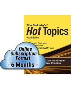 Hot Topics CAPM® Exam Flashcards - 4th Edition - Cloud Subscription - 6 Month