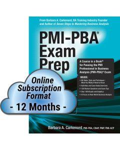 PMI-PBA® Exam Prep, Premier Edition - Cloud Subscription - 12 Month