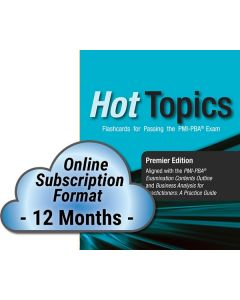 Hot Topics PMI-PBA Exam Flashcards - Cloud Subscription - 12 Month