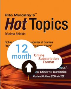 Hot Topics PMP® Exam Flashcards - 10th Edition - Cloud Subscription - Spanish Translation - 12 Month