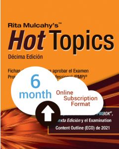 Hot Topics PMP® Exam Flashcards - 10th Edition - Cloud Subscription - Spanish Translation - 6 Month