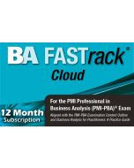 BA FASTrack® Cloud - PMI-PBA® Exam Simulator - Version 2 - 12 Month