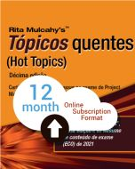 Hot Topics PMP® Exam Flashcards - 10th Edition - Cloud Subscription - Portuguese Translation - 12 Month
