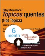 Hot Topics PMP® Exam Flashcards - 10th Edition - Cloud Subscription - Portuguese Translation - 6 Month