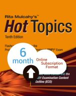 Hot Topics PMP® Exam Flashcards - 10th Edition - Cloud Subscription - 6 Month